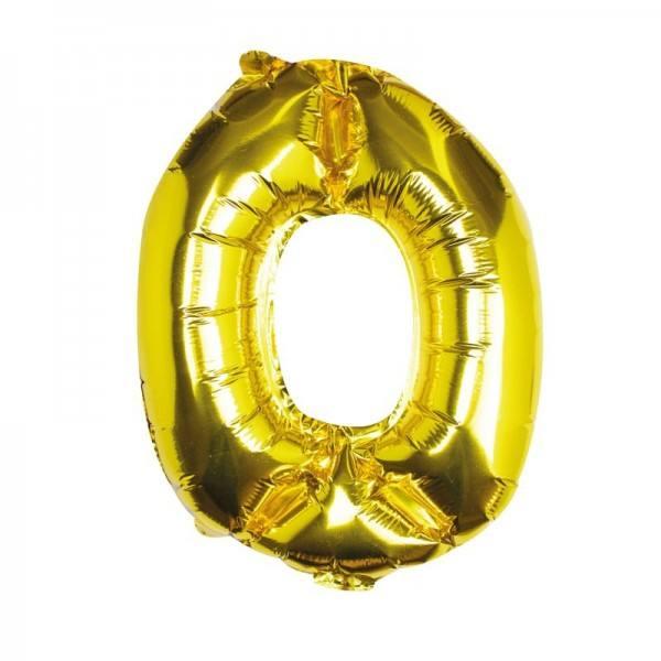 Ballon gold Zahl 0