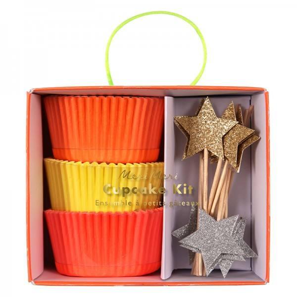 Meri Meri - Cupcake Set Neon & Sterne