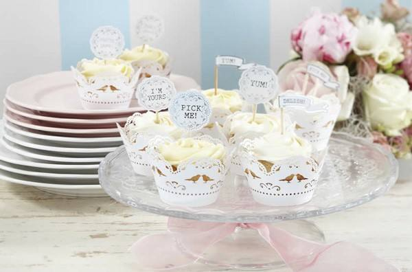 Cupcake Topper Lace