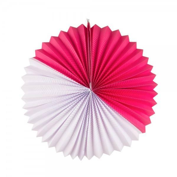 Papier Lampion pink-weiss