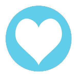 Aufkleber Herz hellblau