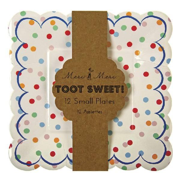 Meri Meri - Toot Sweet Teller groß Punkte