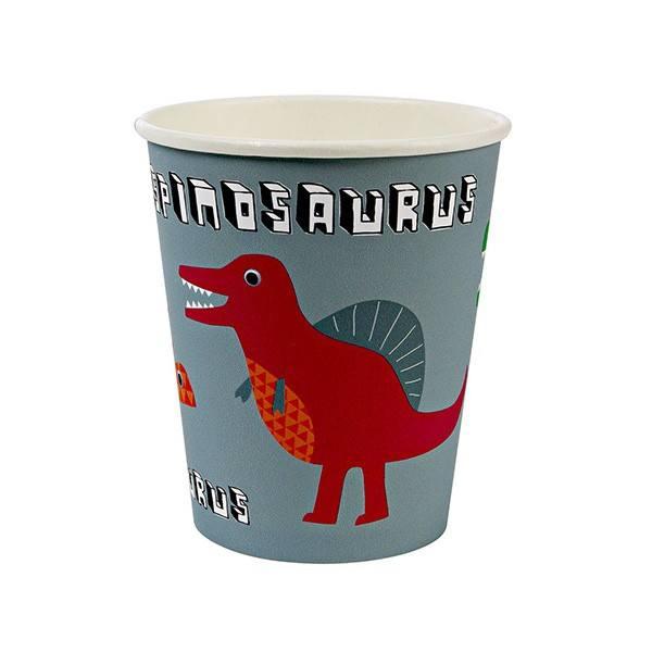 Meri Meri - Pappbecher Dinosaurier Vers. II