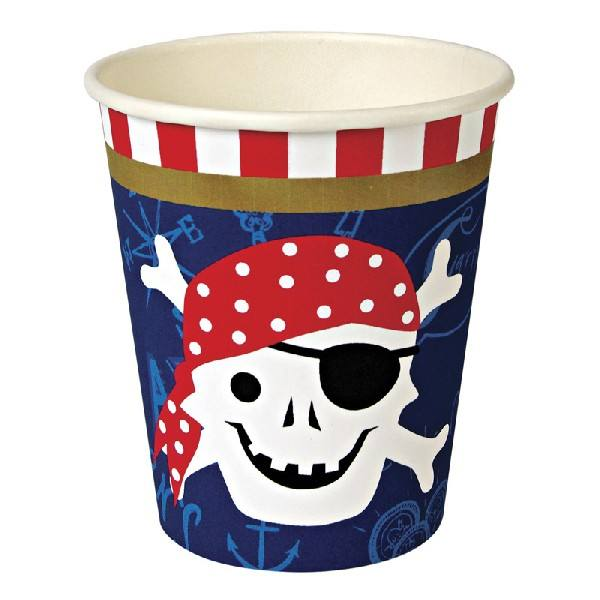 Meri Meri - Pappbecher Pirat