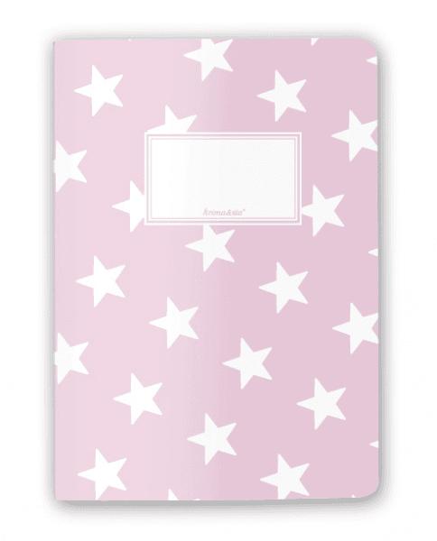Krima & Isa - Notizheft Sterne rosa