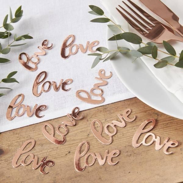 Bride to be Konfetti rosegold love