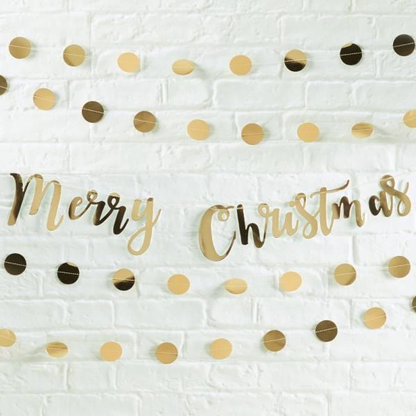Metallics Girlande Merry Christmas gold