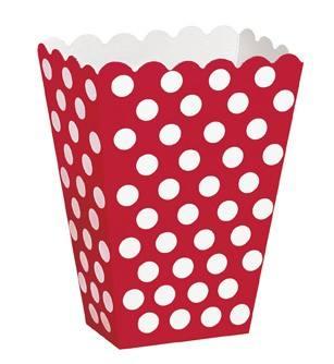 Popcorntüten Punkte rot