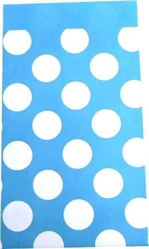 Papier Tüten Punkte hellblau