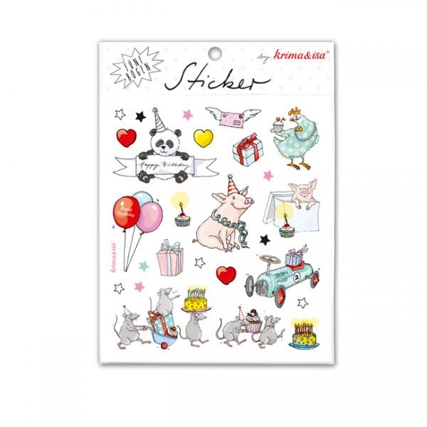 Krima & Isa Sticker Set Geburtstag