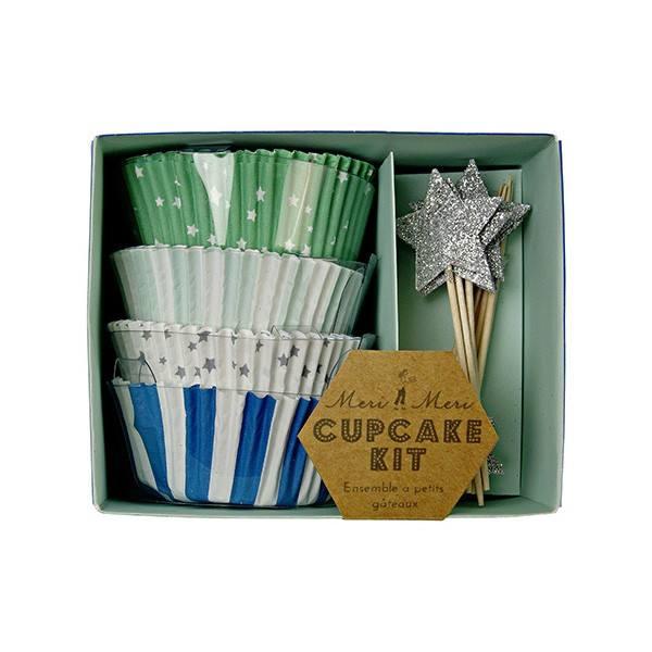 Meri Meri - Cupcake Set Toot Sweet blau