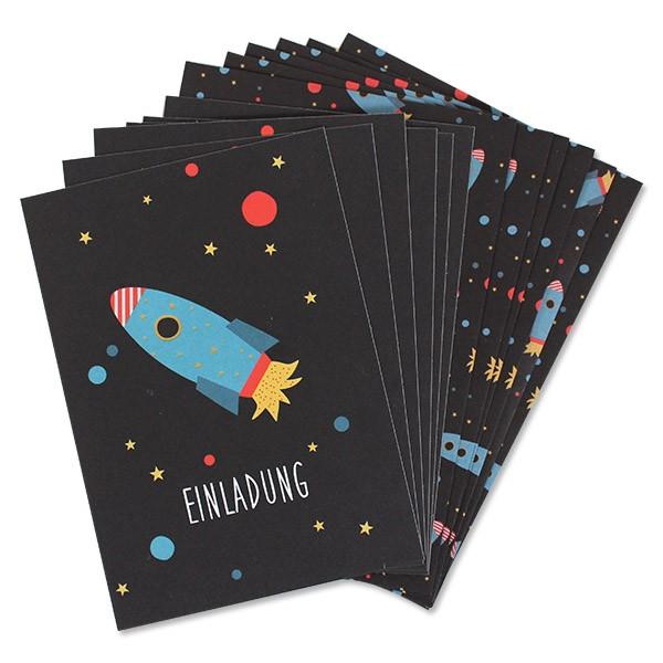 Ava & Yves Einladungen Weltraum Space