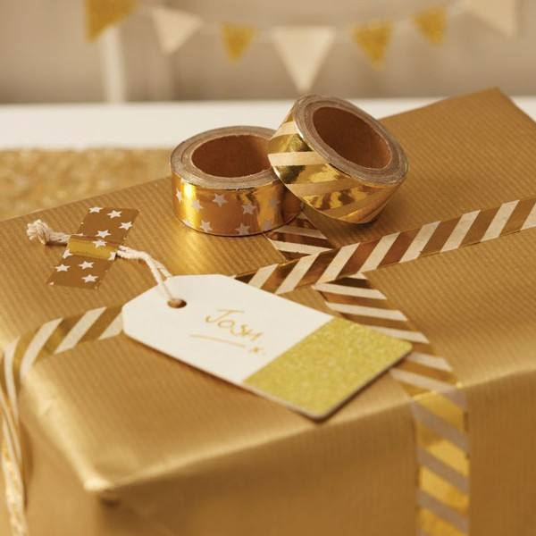 Washitape Set Metallic Perfection Gold