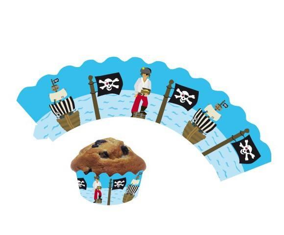 Cupcake Wrapper Pirat