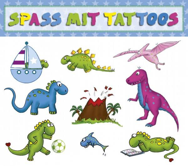 Tattoo Dino Vulkan