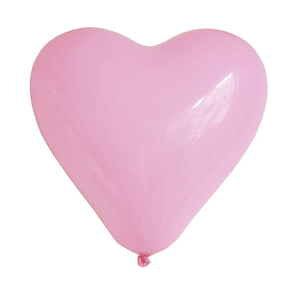 Luftballon Herz rosa
