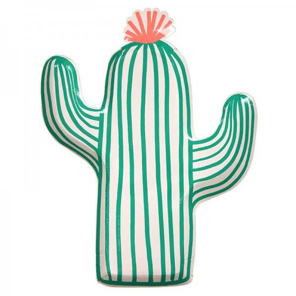 Meri Meri - Pappteller Kaktus