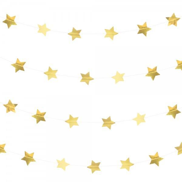 Little Girlande gold Sterne