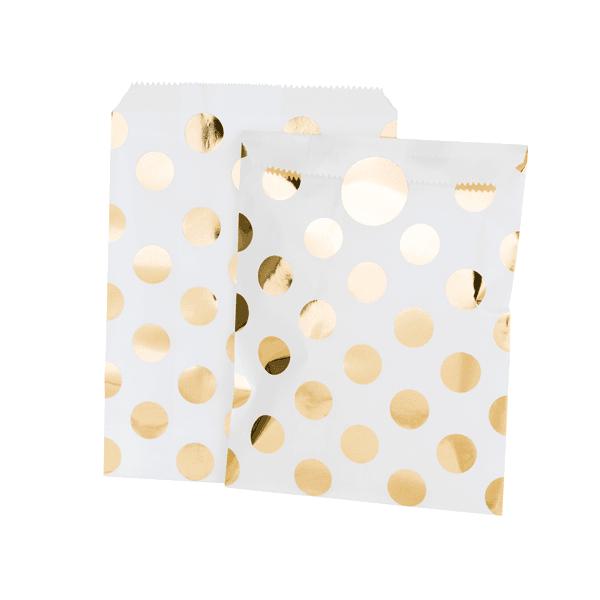 Mix - Papiertüten Goldpunkte
