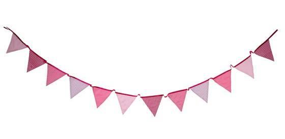 Pink - Stoff Girlande