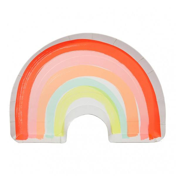 Meri Meri - Pappteller Regenbogen