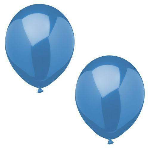Luftballonset uni blau