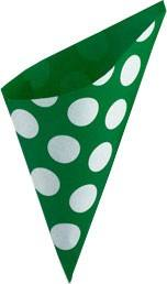 Spitztüten grün Punkte