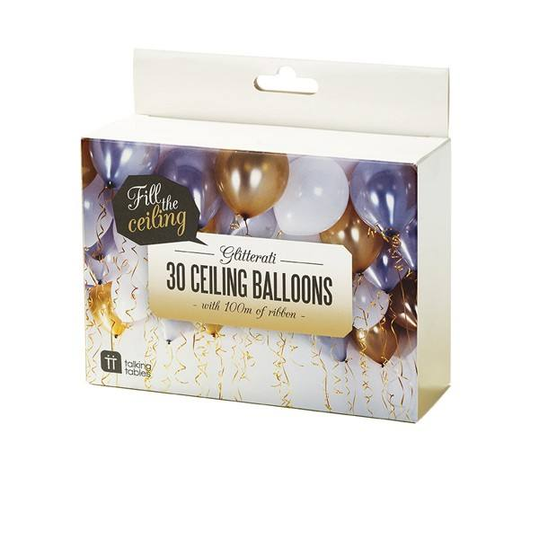 Metallic - großes Ballonset