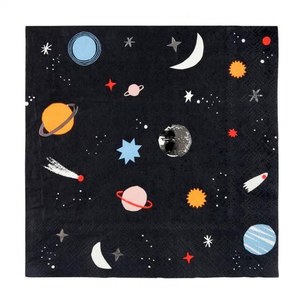 Meri Meri - Servietten Weltraum