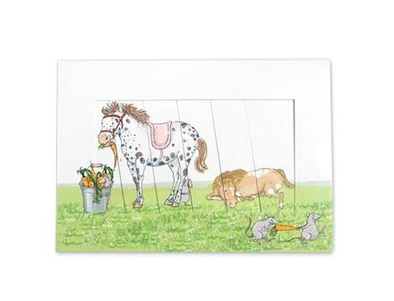 Krima & Isa - Schiebekarte Pony