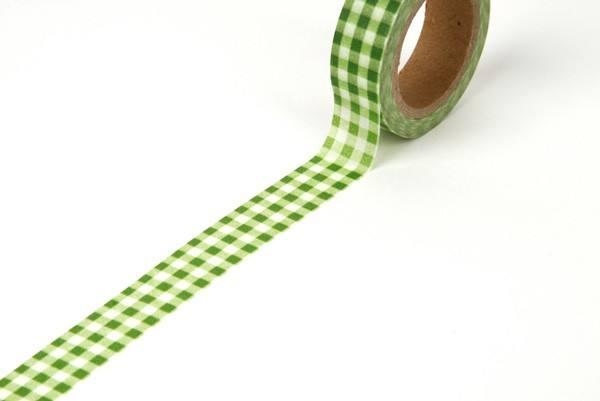 Reispapier Tape grün Karo