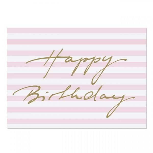 Krima & Isa - Postkarte Happy Birthday gold