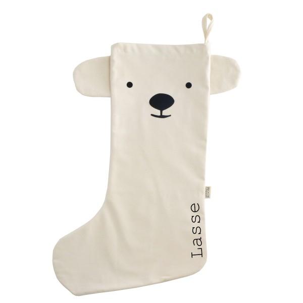 Nikolausstiefel Eisbär mit Namen