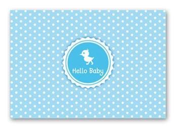 Postkarte Hello Baby Boy