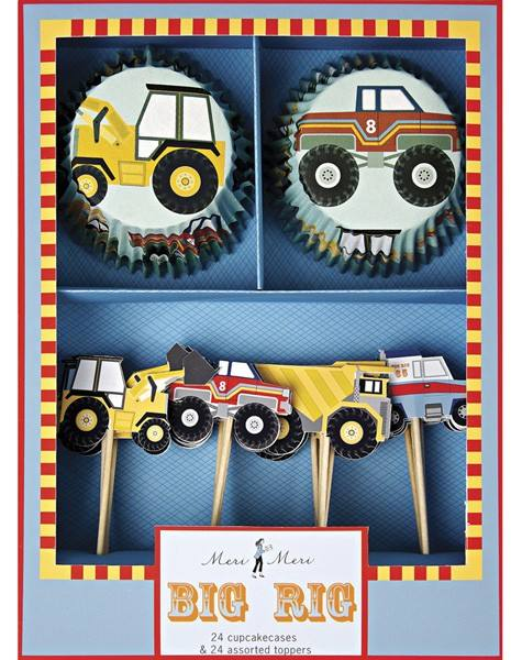 Meri Meri - Cupcake Set Baustelle