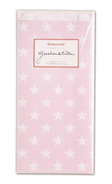 Krima & Isa Geschenktüten Sterne rosa