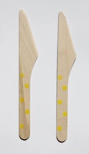 Holzmesser gelb Punkte
