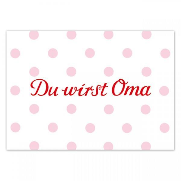 Krima & Isa - Postkarte Du wirst Oma