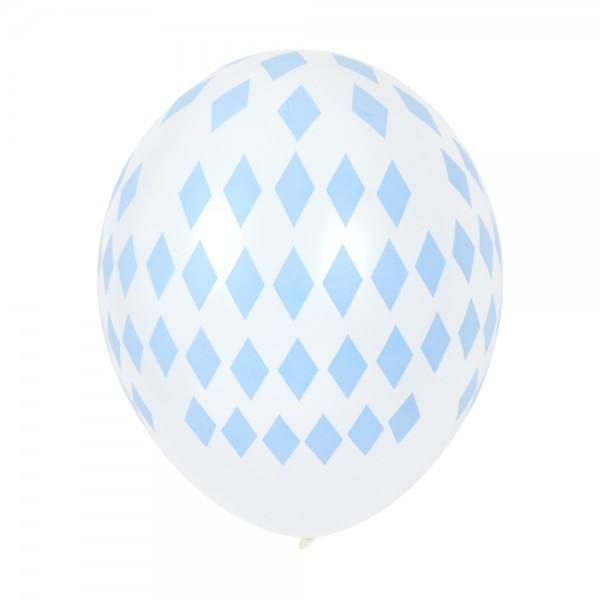 Little Luftballon hellblau Raute
