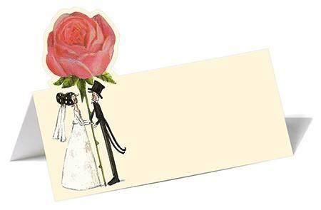 Grätz Tischkartenset Hochzeit Rosen