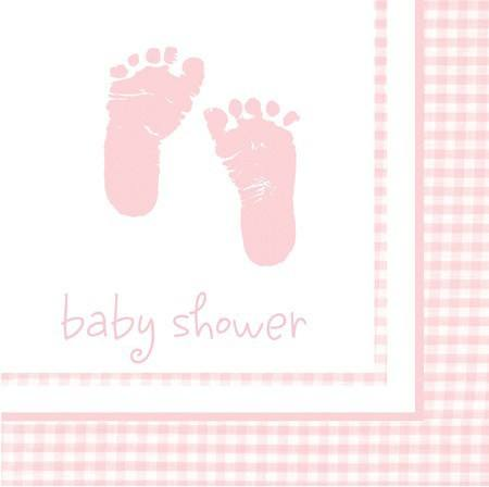 Servietten Babyfüße rosa
