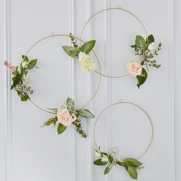 Gold Wedding - Blumen Reifen