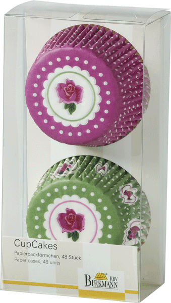 Muffinförmchen Cottage Garden Rose