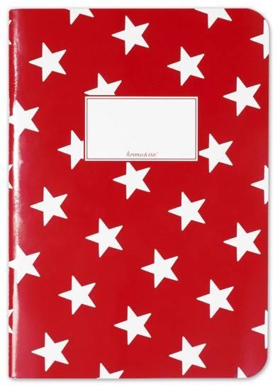 Krima & Isa - Notizheft Sterne rot