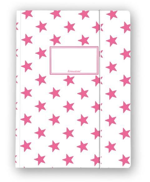 Krima & Isa - Sammelmappe Sterne pink