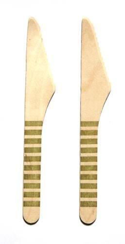 Holzmesser gold Streifen