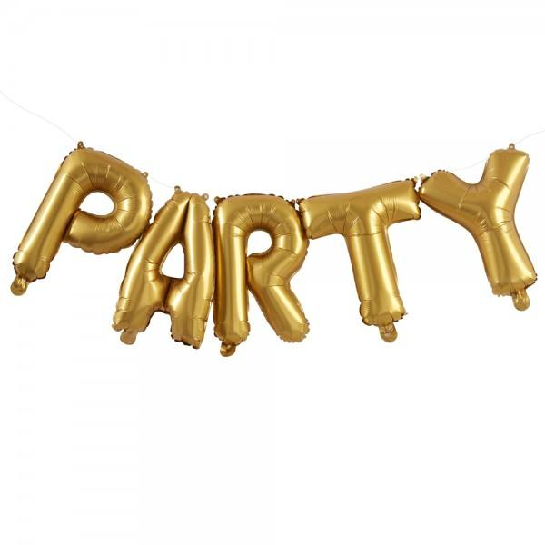 Pick & Mix- Ballongirlande Party gold