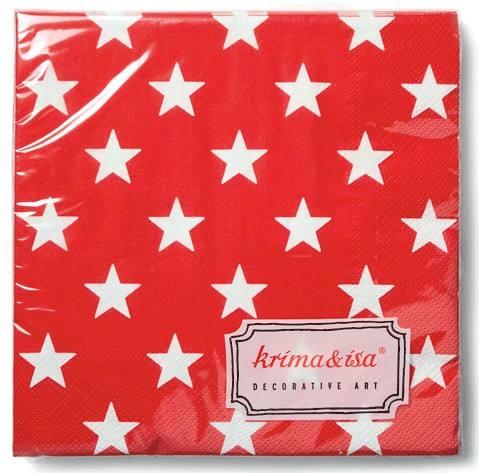 Krima & Isa - Servietten Sterne rot