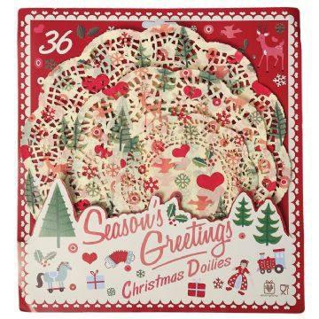 Tortendeckchen Doiley Weihnachten
