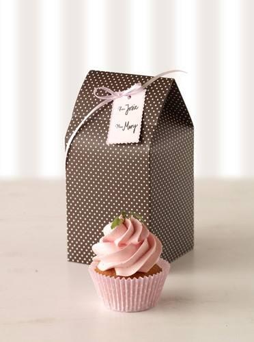 Cupcake Geschenkbox braun